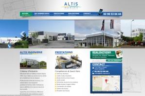 Site web ALTIS Ingénierie Quimper