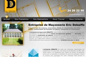 Site Internet de l'Entreprise de bâtiment Eric DEBAIFFE