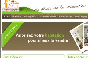 Site Internet d'un artisan en renovation