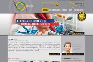 Site Internet d'un artisan électricien avec devis électricité en ligne