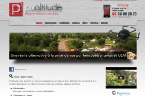 Site web prise de vue aérienne Drone