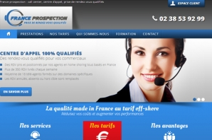 Site web call center et prospection commerciale