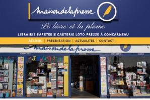 Site Internet Maison de la Presse à Concarneau