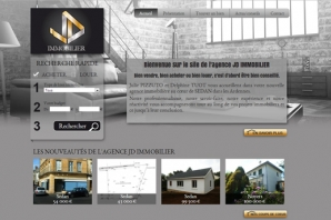 Site web agence JD Immobilier
