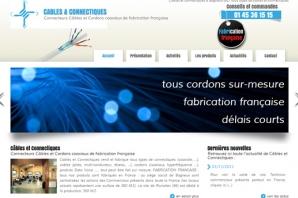 Site web Câbles et connectiques Made in France