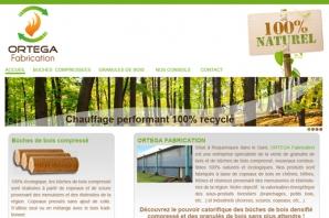 Site Internet Granulés de bois et bûches compressées