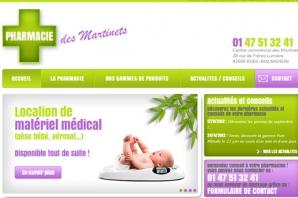 Site Internet Pharmacie des Martinets