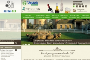 Site web boutique produits du terroir