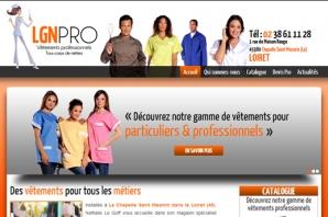Site web Vêtements professionnels