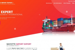 Création Site Internet Déménagement International et Transport Maritime