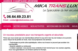 Site Internet Transport express pro