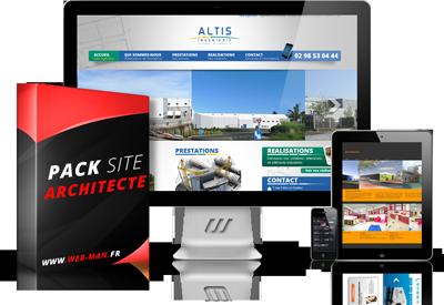 presentation du pack creation site architecte