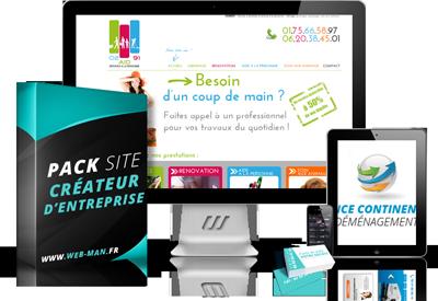 presentation du pack creation site pour createur d entreprise