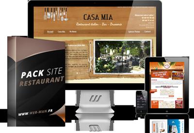 presentation du pack creation site pour restaurant bar et brasserie